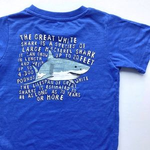 New toddler great white tee